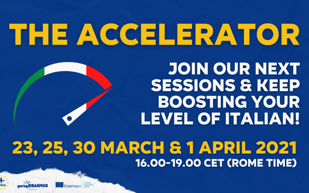 Keep boosting your level of Italian – join the Accelerator in March-April