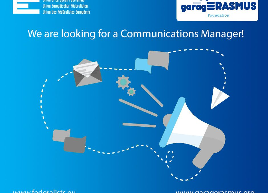 garagErasmus is looking for a Communications Manager!