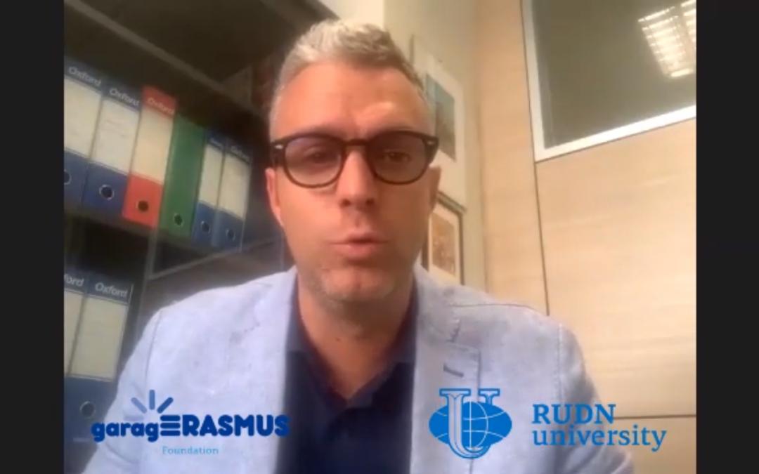 RUDN University interviews garagErasmus Director Carlo Bitetto