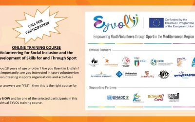 """Join the Online Training Course """"Discovering and Enhancing Transversal Skills For and Through Sport Volunteerism"""""""
