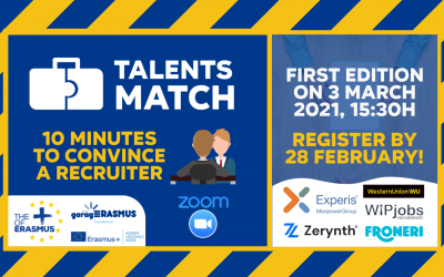 Talents Match (3 March 2021) – 10 minutes to convince a recruiter!