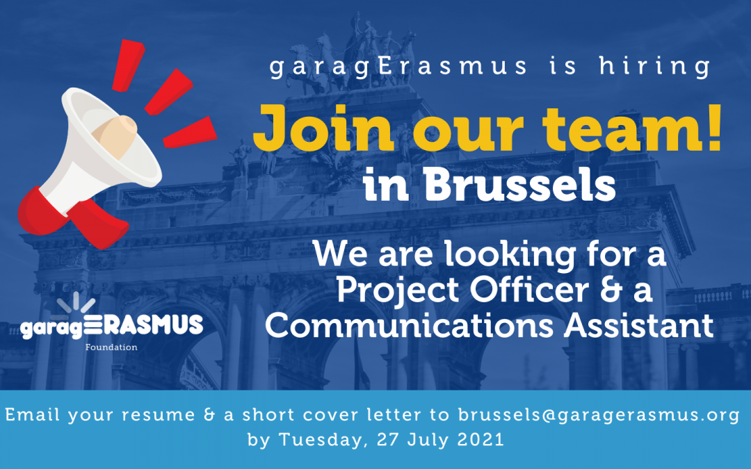 garagErasmus is hiring: two internship positions available in our Brussels office!