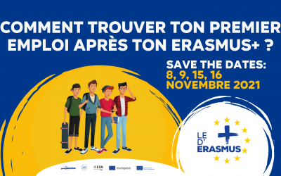 """Save the date for the Belgian editions of """"Le + d'Erasmus"""" in Fédération Wallonie-Bruxelles"""