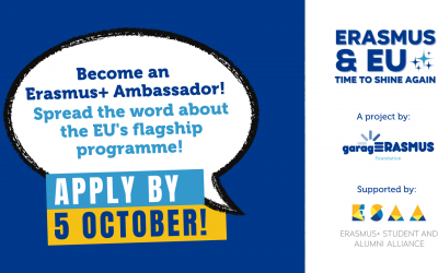 Spread the word about Erasmus+: become an Erasmus Ambassador!